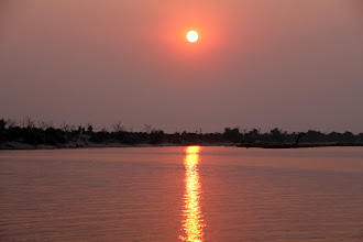 Photo: The Chobe River cruise was rounded off by a magnificent sunset.
