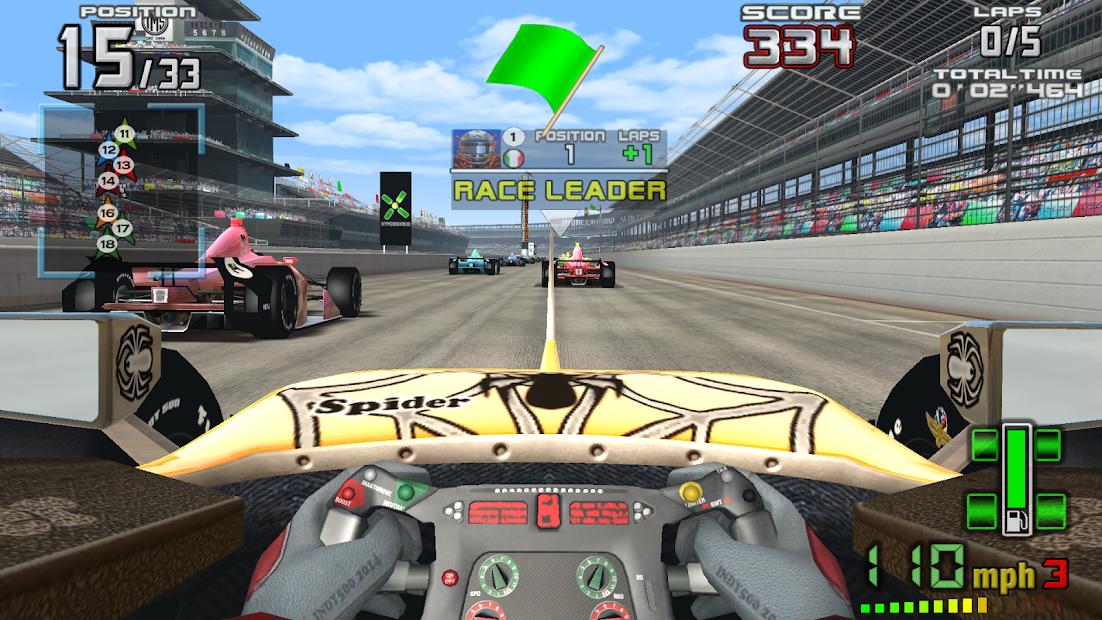 INDY 500 Arcade Racing Android App Screenshot