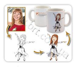 Photo: Подарок на День рождения компании: чашка с дружеским шаржем. Заказчик: KOVALCHUK Business-Direct Center