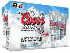 Coors Light Beer - 500ml, 8 Pack