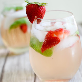 Strawberry Rosé Basil Sangria.
