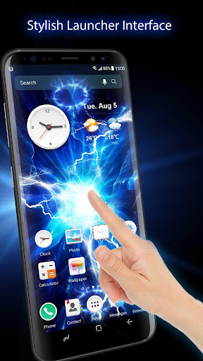 Screenshot for Electric Screen for Prank Live Wallpaper &Launcher in United States Play Store