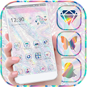 Cute Glitter Holographic Theme