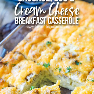 Sausage, Egg & Cream Cheese Breakfast Casserole.