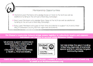 Photo: Woman's Leadership Network/United Way of Delaware County Handout (Back)