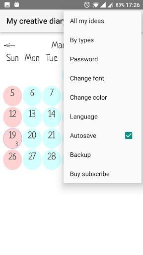 My creative diary screenshot 1