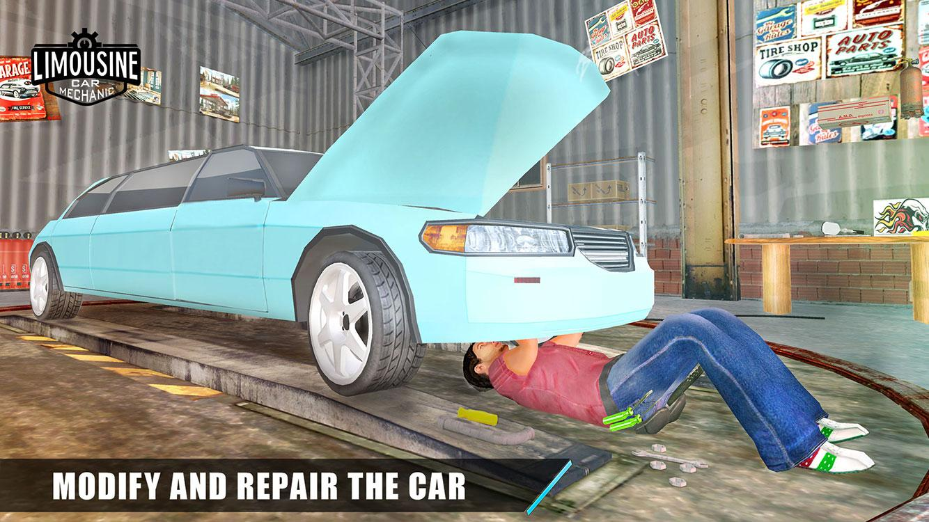 Limo Car Mechanic Simulator 3D- screenshot