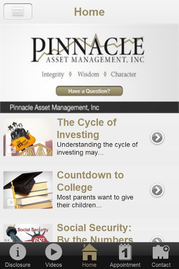 Pinnacle Asset Management- screenshot