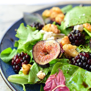 Fig and Blackberry Salad with Candied Walnuts