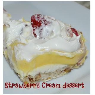 Strawberry Cream Dessert.