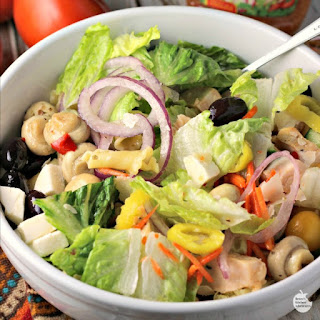 Italian Chicken Chopped Salad Bowls
