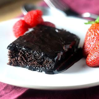 Molten Chocolate Sheet Cake
