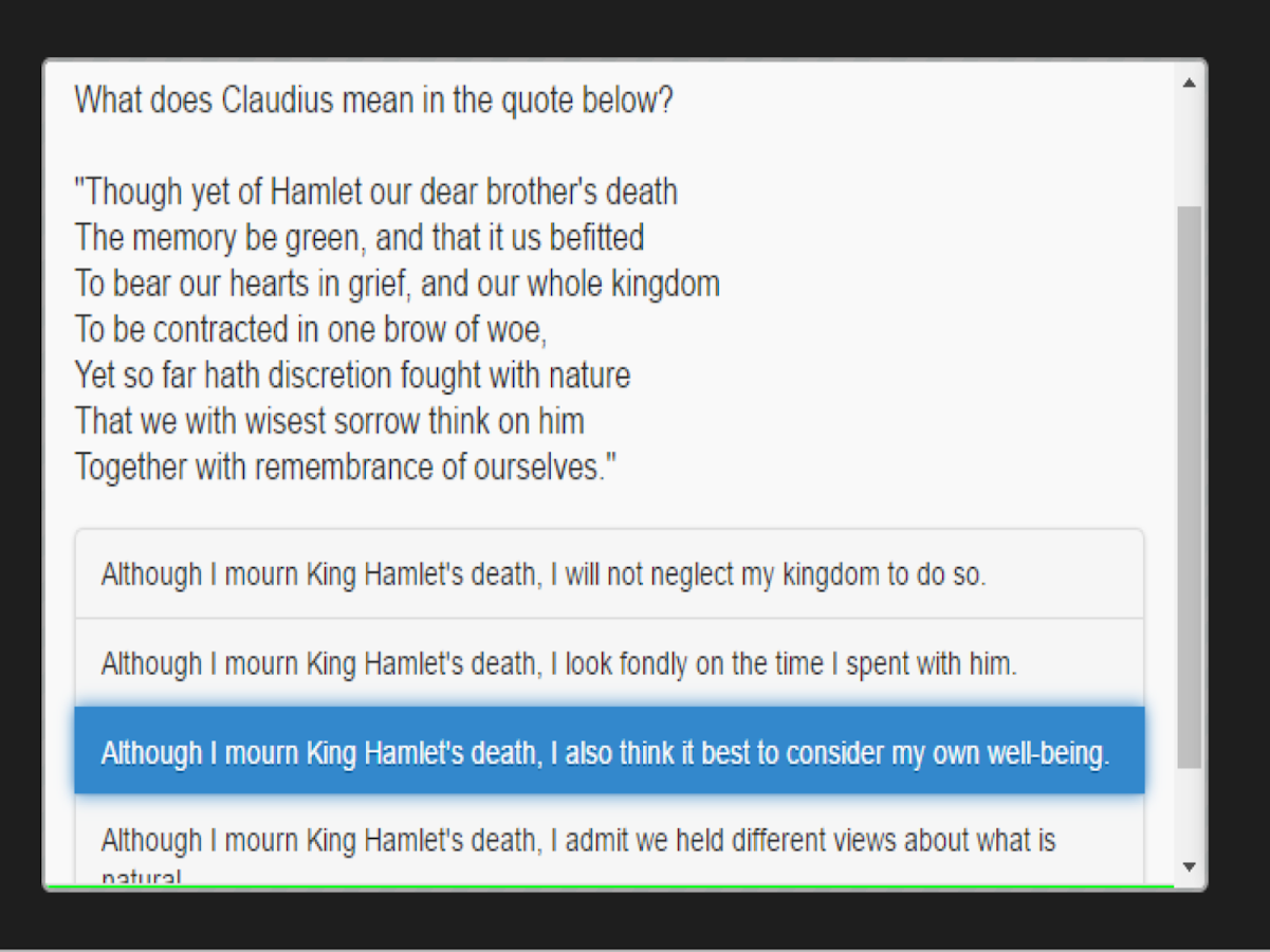 edMe Reading: Hamlet- screenshot