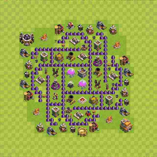 Town Hall 7 Farming Base Layout - náhled