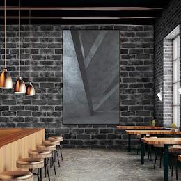 Set 5 x Tapet adeziv caramizi, 77 x 70 cm, spuma moale 3D