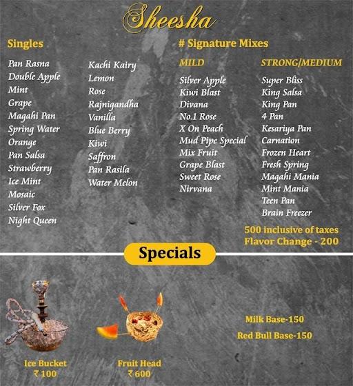 Mudpipe Cafe menu 1