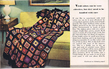 Photo: Granny square afghans were hot in 1941, and 1971. ....We even have a couple for sale on New England Miniatures. http://www.newenglandminiatures.com/black-granny-square-spread.html...... and ....http://www.newenglandminiatures.com/white-granny-square-afghan.html