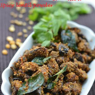 Eggplant Stir Fry With Spicy Lentil Powder