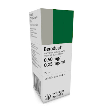 BERODUAL 0.50/0.25MG   SOL.NEBUL FCO. X20ML.BOE BROMURO FENOTEROL IPRATR