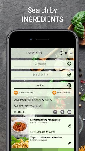 vegan recipe browser screenshot 2