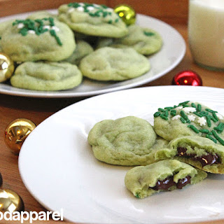 Chocolate Stuffed Peppermint Sugar Cookies