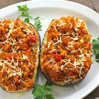 Vegetarian Stuffed Eggplant Rice Recipes