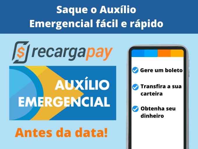 Saque o Auxílio Emergencial com RecargaPay