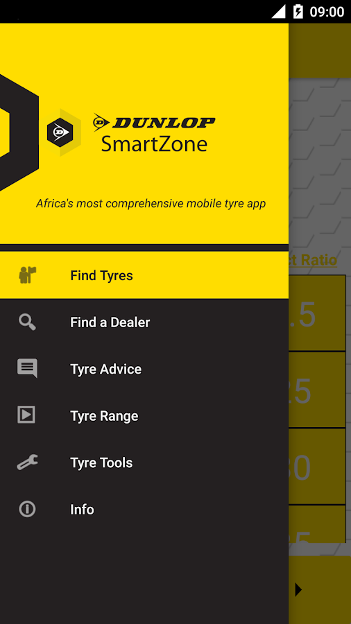 Dunlop SmartZone- screenshot
