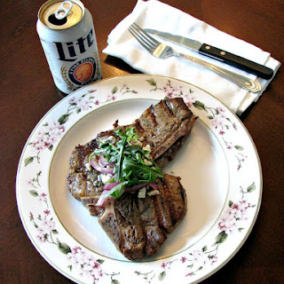Beer Marinated Grilled Porterhouse Steak