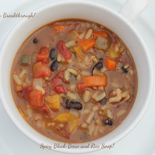 Spicy Black Bean and Rice Soup!