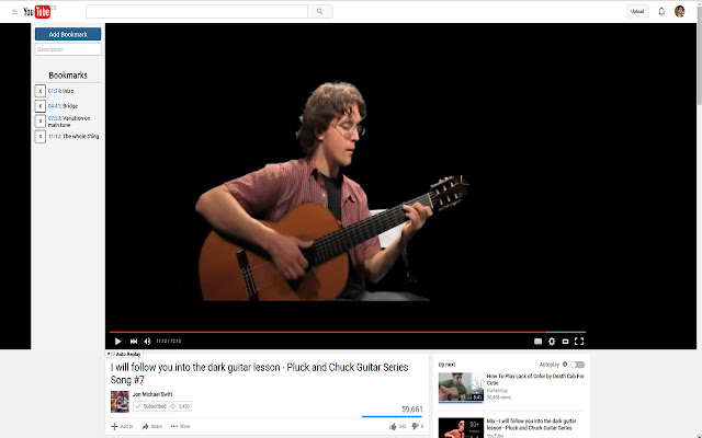 Youtube Bookmarks Extension