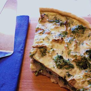 Spinach, Tuna, and Mushroom Quiche.
