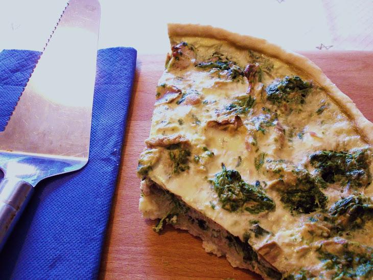 Spinach, Tuna, and Mushroom Quiche Recipe