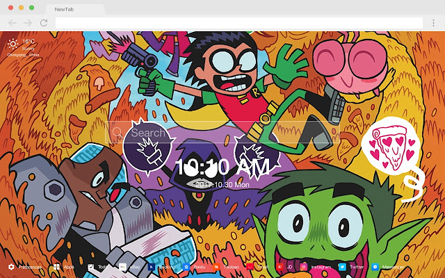 Teen Titans Go New Tab Page Hd Wallpapers