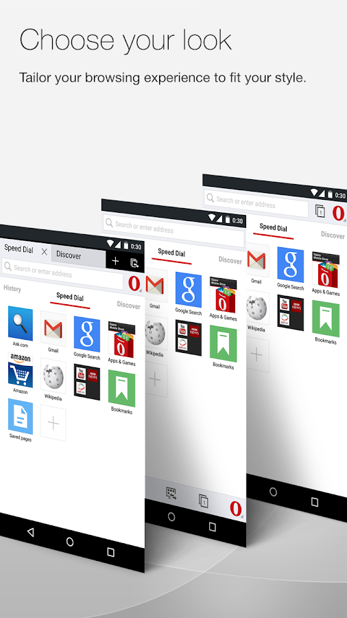 Opera browser for Android- screenshot