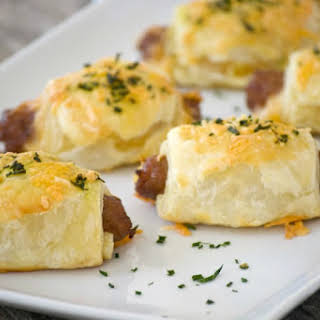 Cheesy Puff Pastry Sausage Rolls.