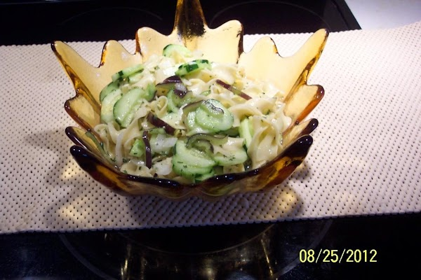 Mix the dressing, pour over the shredded vegetables..Cover and put in the refrigerator untill...