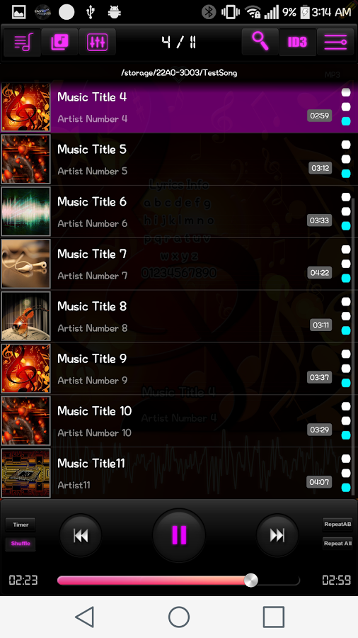 Easy MusicPlayer Pro (Moved)- screenshot