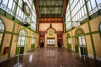 Situación actual del vestíbulo de la antigua estación