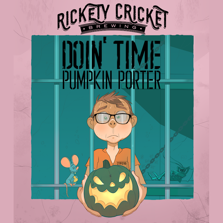 Logo of Rickety Cricket Brewing Doin' Time Pumpkin Porter