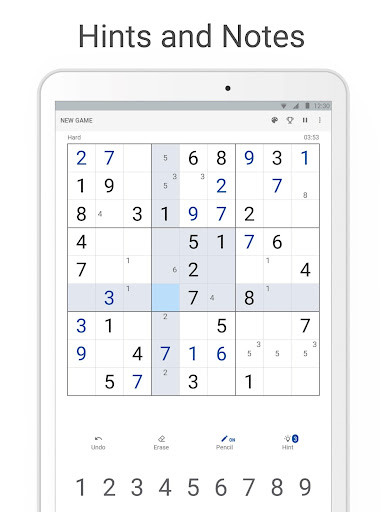 Sudoku game (apk) free download for Android/PC/Windows screenshot