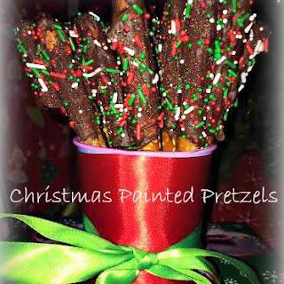 Christmas Painted Pretzels
