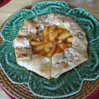 Peach and Almond Galette.
