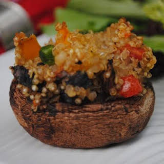 Quinoa Stuffed Mushrooms.