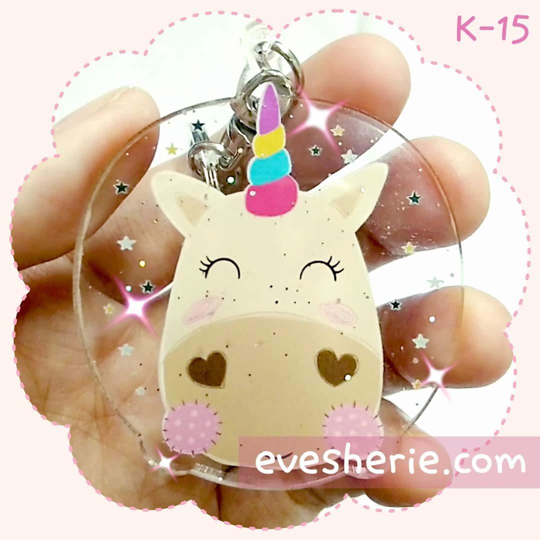 พวงกุญแจ วัว ยูนิคอร์น สีพาสเทล น่ารัก cute pastel cow unicorn keychain
