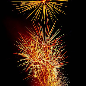 Brilliant  by Brenda Hooper - Abstract Fire & Fireworks ( abstract, 4th of july, fire works, fire,  )