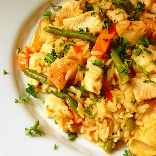 Chicken and Brown Rice Skillet