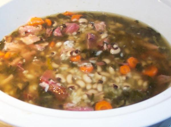 Black Eye Pea Hoppin John Soup For New Years Recipe