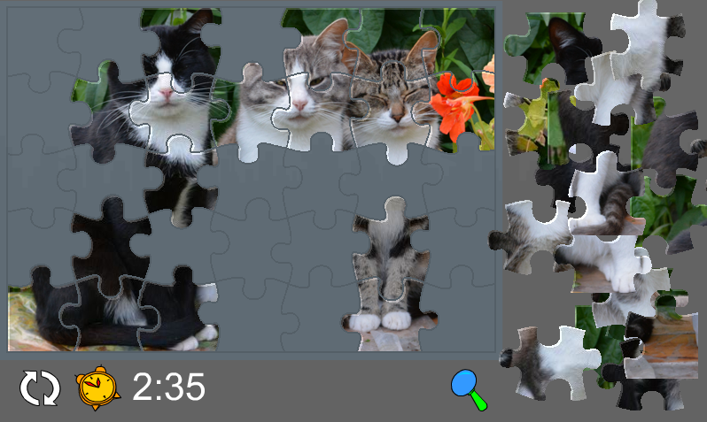 Puzzle with Cute Cats- screenshot