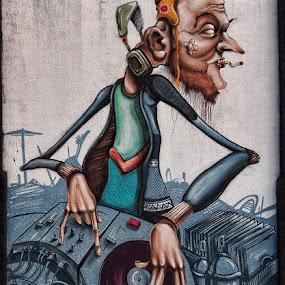 Wall Art Street  by Ciddi Biri - Street Art All Street Art ( graffiti, dj, painting, drawing, streetart )